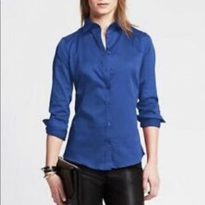 Banana Republic Non-Iron Fitted Stretch Blouse